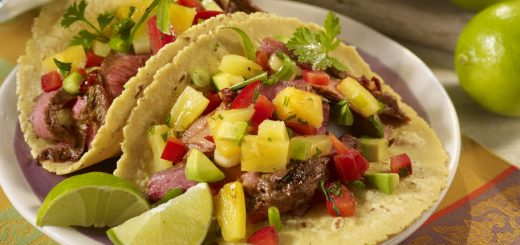 Steak Tacos with Pineapple Salsa