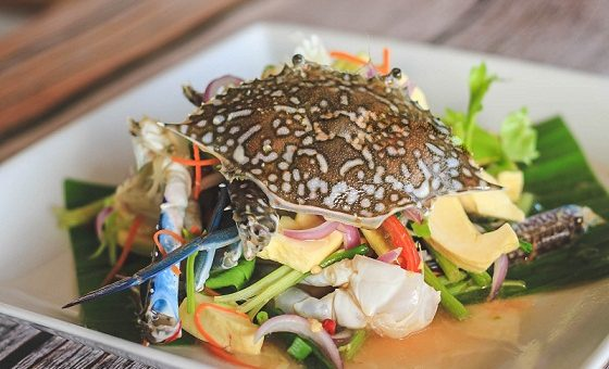 Durian spicy salad.